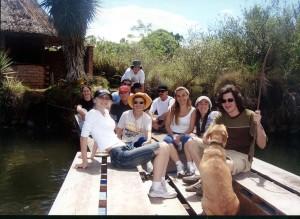 Entre Amigos no deck do lago das estrelas - Rincão Gaia.