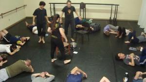 Calouros 2015 de Graduação em Teatro: Licenciatura em aula de Improvisação Teatral I (UERGS)