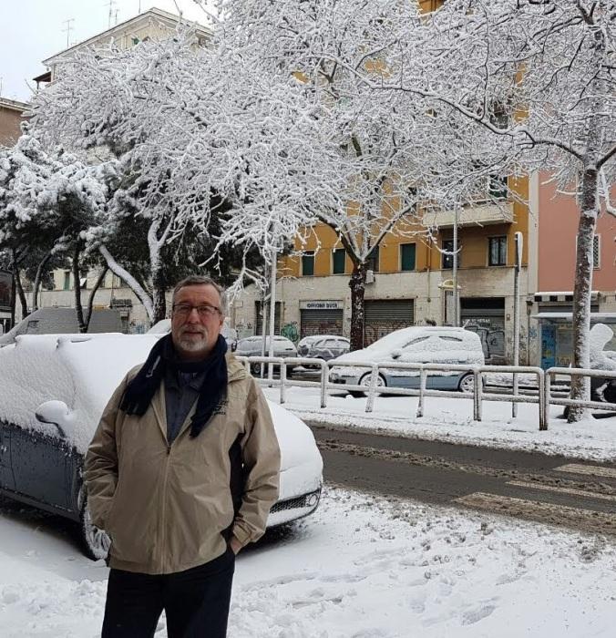 Airton Ortiz em Roma. Divulgação.