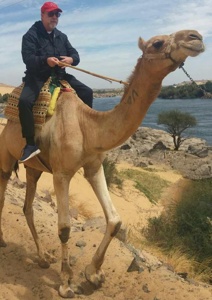 Airton Ortiz no Egito. Divulgação.